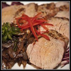 Brined Pork Tenderloin with Braised Sweet Onions