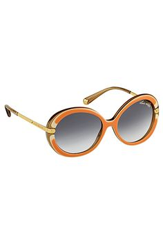 dfbf4838659 With their sophisticated retro spirit and oversize round frames in Louis  Vuitton exclusive acetate