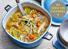 Introducing Chicken Tinola, a favourite dish of the Philippines and a taste of our childhood. This soupy stew is great for restoring one's health - homemade chicken stock is key. Onions, garlic and ginger are added before being topped up with chicken and veg. Serve with a squeeze of lemon juice for an immune-boosting dish that is flavoursome, soothing.