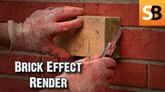 Sponsored by Bostik, Are you trying to get a brick wall look without bricklaying? Try using the Bostik Brick Effect Render system. The faux brick wall system. Fake Brick Wall, Fake Walls, Faux Brick, Diy Exterior, Brick Paneling, Brickwork, Painting Techniques, Diy Wall, Sheds