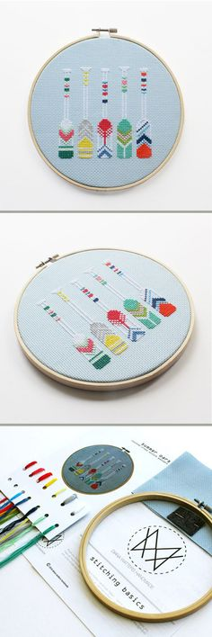 Summertime cross stitch. This quick and easy project would be perfect for the beach!