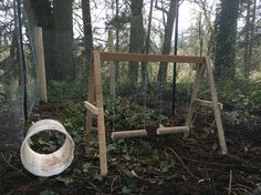 My girlfriend made this awesome chicken swing for our ladies to play on.