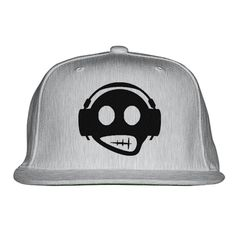 Headphone Embroidered Snapback Hat