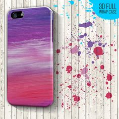 Oil Painting Pink Violet iPhone 6, 6Plus, 5s, 5, 4, 4s case cover, iPhone 3d wrap, Samsung Galaxy S5, S4 - bright pastel pink colors // High quality glossy color full wrap phone case for iPhone and Samsung Galaxy phones // Worldwide shipping, €15.99 EUR
