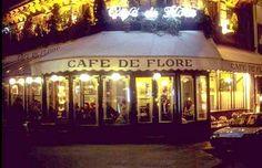 Cafe de Flore in Paris, where Sartre and de Beauvoir hung out