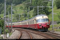 High quality photograph of SBB Historic RAe TEE II # 1053 at Sisikon, Switzerland. Electric Locomotive, Diesel Locomotive, Europa Express, Old Steam Train, Third Rail, Rail Transport, Swiss Railways, Electric Train, Oil Rig
