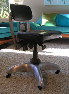 vintage 1950s cole steel swivel metal office desk chair | office