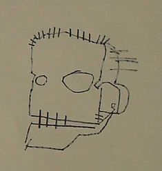 skull by basquiat