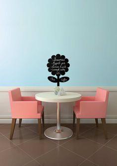Tăblița memo Vermes, în formă de floare Chair, Furniture, Home Decor, Decorated Clipboards, Shapes, Decoration Home, Room Decor, Home Furnishings, Stool