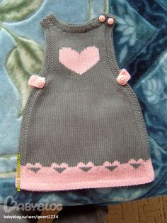Ladies Cardigan Knitting Patterns, Baby Boy Knitting Patterns, Crochet Baby Dress Pattern, Baby Sweater Knitting Pattern, Knitting For Kids, Baby Patterns, Girls Knitted Dress, Knit Baby Dress, Crochet Baby Costumes