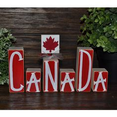 Canada Decor Patriotic Decoration Canadian Block Set Remembrance Day Boxing Day British Columbia Day