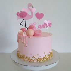 40th Birthday Balloons, Baby Birthday Cakes, Flamingo Birthday, Flamingo Cake, Flamingo Party, Jasmine Cake, Animal Cakes, Girl Cakes, Party Cakes