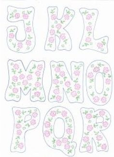 patrones de letras | Aprender manualidades es facilisimo.com Creative Lettering, Hand Lettering, Alphabet Templates, Patch Aplique, Alphabet And Numbers, Applique Designs, Diy Projects To Try, Paper Piecing, Embroidery Patterns