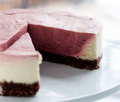 raw chocolate cherry mousse cake