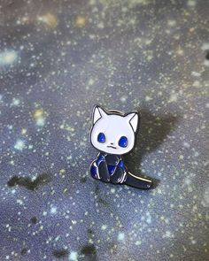 quicksilver-cat enamel pin Measures cm Ships with card backing ©tuna Cool Patches, Pin And Patches, Violet Aesthetic, Jacket Pins, Weekly Outfits, Cat Pin, Mini Things, Cool Pins, Pin Badges