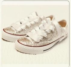 5a402657cfd890 94 Best Bling Wedding Converse   Embellished Converse   Bling ...