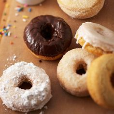 Doughnuts with different types of icing