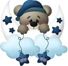 Cartoon bear decoration PNG and Clipart