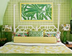 The Glam Pad: 50 Gorgeous Green and White Bedrooms