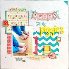 Sweet Pink Piggies - Scrapbook.com