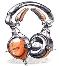 #industrial #design #sketch #headphone