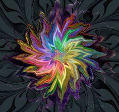 Flashy Floral Rainbow by Paddlin-Maddlin