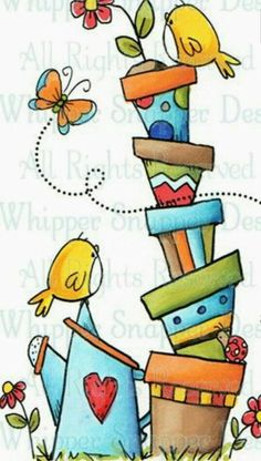 Whipper Snapper Designs is an expansive online store selling a large variety of unique rubber stamp designs. Doodle Drawings, Doodle Art, Art Fantaisiste, Alphabet Stamps, Clip Art, Watercolor Cards, Whimsical Art, Bird Art, Rock Art