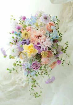 Wedding Invites Paper - Rustic pastel wedding bouquets, muted wedding colors, spring pink purple wedding flowers, country D - Pastel Bouquet, Pastel Flowers, Floral Bouquets, Beautiful Flowers, Purple Bouquets, Bridal Bouquets, Spring Wedding Bouquets, Beautiful Bouquets, Colorful Flowers