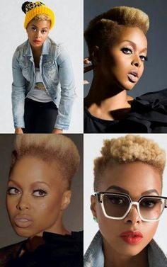"""goodhairmag: """"Songstress Chrisettte Michelle has been relaxed, short, weave'd, natural and braided before deciding to return back to natural for the time. Damaged hair and commitment to treating. Natural Hair Cuts, Natural Hair Journey, Natural Hair Styles, Natural Beauty, My Hairstyle, Afro Hairstyles, Hairdos, Black Power, Short Hair Cuts"""