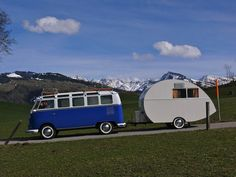 21 window volkswagen bus and vintage camp trailer Kombi Trailer, Vw T1 Camper, Vw Caravan, Volkswagen Bus, Tiny Camper, Volkswagen Beetles, Honda Shadow, Vw T1 Samba, Vespa