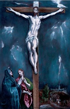 El Greco - Crucifixion of Mary and Saint John,  ca. 1603/05 - In the collection of The John and Mable Ringling Museum of Art, Sarasota, FL. (This is a reduction of a ca. 1580 painting. The location of the larger version is unknown.)