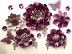 Paper flower PEONY mini backdrop/Paper by SydneyPaperFlowers