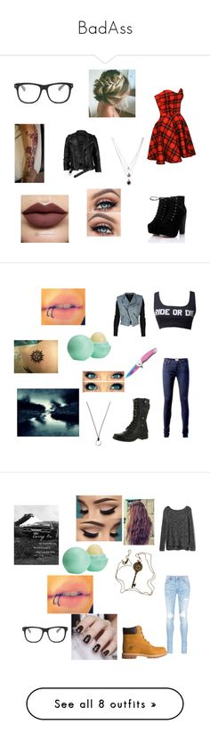"""""""BadAss"""" by blackshadows-i ❤ liked on Polyvore featuring Anastasia Beverly Hills, Forever 21, VIPARO, STELLA McCARTNEY, Tommy Hilfiger, Reneeze, Alexander Wang, Handle, FOSSIL and Topshop"""