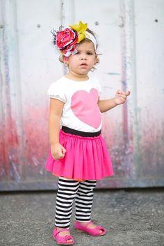 Black & Bright Heart Tee (Baby & Toddler Girls) by Taylor Joelle Designs on @HauteLook