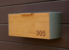 Modern Mailbox Cedar and Stainless Steel Mailbox by CeCeWorks