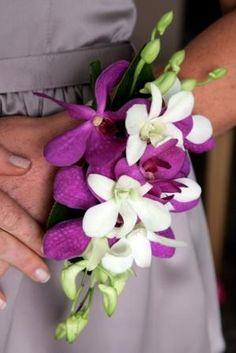 Bridesmaid Flora Ideal Fancy wrist corsage - fuchsia orchid for my wedding bridesmaids in Bali Prom Flowers, Bridesmaid Flowers, Bridal Flowers, Wedding Bridesmaids, Flowers In Hair, Corsage Wedding, Wedding Bouquets, Prom Corsage, Sparkle Wedding