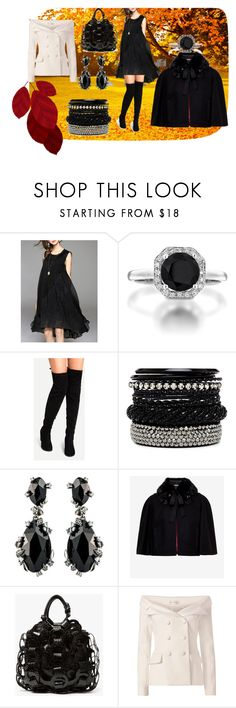 """""""traje en un dia ventoso"""" by osiris-rojas ❤ liked on Polyvore featuring WithChic, 2b bebe, Alexis Bittar, Ted Baker and Faith Connexion"""