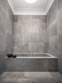Gray minimalistic bathroom | Norm Architects