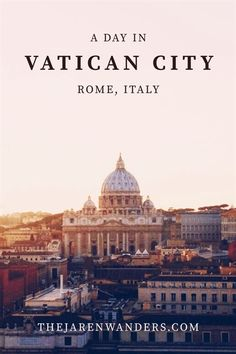 A day in Vatican City | The Jaren Wanders | Rome | Italy | Vatican City | St. Peter's Basilica | Musei Vaticani | Sistine Chapel | Castel Sant'Angelo | Ponte Sant'Angelo | Europe | Backpacking | Travel | Budget #ItalyTravel