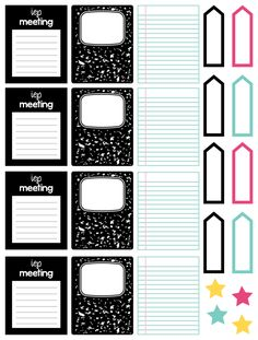 School Planner Stickers - Special Needs and Reminders