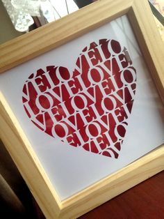Love, Love. *commercial use* Paper cut template by Purple Unicorn paper Cuts available to buy from http://www.totallytemplates.co.uk/product/love-love-commercial-use/