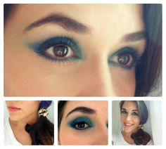 Olhos azuis com boa nude.. #makeup #bluemakeup #maquiagem #maquiagemazul