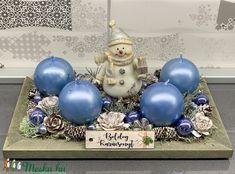 Jégvarázs adventi koszorú - dekoráció (AKezmuvescsodak) - Meska.hu Hanukkah, Advent, Wreaths, Diy, Home Decor, Decoration Home, Door Wreaths, Bricolage, Room Decor