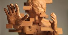 Pixelated Wood Sculptures Carved by Hsu Tung Han