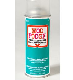 Mod Podge ® Acrylic Sealer - Pearlized, 11 oz. Decoupage with a Fine Glitter Finish! Add an eye-catching glisten to projects with new hologram Glitter Mod Podge. Give projects a luminous finish with Mod Podge Pearlized sealer.