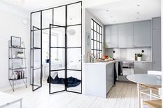 Chic Swedish Apartment redefines compact quarters. Fabulous details in this 400 square foot apartment that is bright, modern, and stylish.