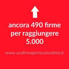 ➡➡ ➡ ancora 490  firme per raggiungere 5.000 🎯 #UnaFirmaPerLaVulvodinia http://buff.ly/2hkuCMz #vulvodinia #svv