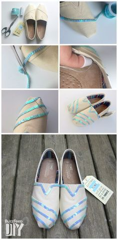 Sequin Striped TOMS #DIY on Buzzfeed. Shop your supplies to get started: http://toms.sh/1n8Q81R