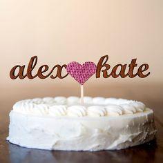 Unique Wedding Cake Toppers #betteroffwed #wedding