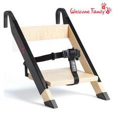 Rehausseur de chaise pour restaurants et voyages, il s'adapte sur 98 % des chaises. Design et robuste il vous accompagnera partout.